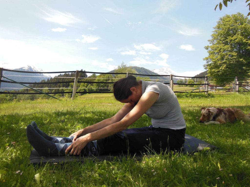 Yoga für Reiter: Paschimottanasana