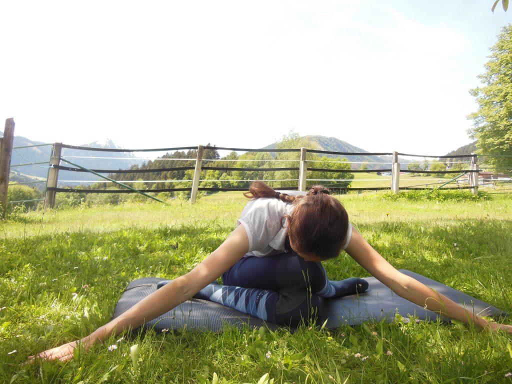 Yoga für Reiter: Gomukhasana-Variation